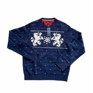 NWT Tommy Hilfiger Lambswool Navy Blue Pullover